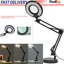 LED Magnifying Glass Adjustable Table Lamp Desktop Or Clamp-On Lamp Magnifying