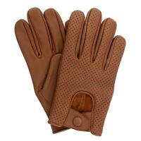 Mens Lambskin Leather Driving Gloves Retro style Top quality Comfort Chauffeur