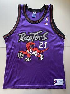 Vintage Champion Toronto Raptors Marcus Camby NBA Basketball Jersey Sz 44 RARE