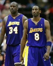 Kobe Bryant and Shaquille O'Neal UNSIGNED 8X10 Photo (A)