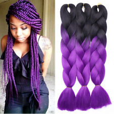 1Pc Ombre Synthetic Kanekalon Jumbo Braiding Hair Extension Afro Twist Braids US