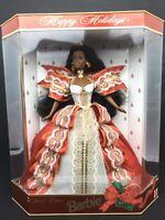 NIB Vintage Mattel 1997 Special Edition African American Happy Holidays Barbie