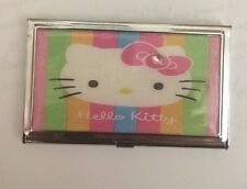 Womens stainless steel business and credit card cases ebay pink hello kitty business card holder credit card case reheart Images