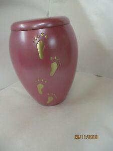 Stunning pink cremation urn specially designed for a child's or babies ashes