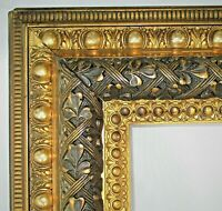 "BIG FITS 30.25"" X 25.25""  GOLD GILT ORNATE WOOD PICTURE FRAME FINE ART VICTORIAN"