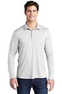 New Sport-Tek Posi-UV Pro Long Sleeve Polo Men's Golf Shirt UPF 50 UV Protection