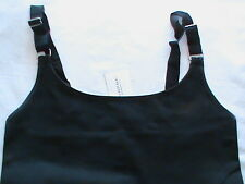 NWT ladies S stretch sleeveless basic tank top cami black adjust strap BANANA RE