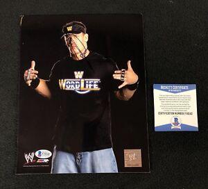 John Cena Signed WWE Word Life Photofile 8x10 Photo Beckett COA