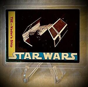 1977 STAR WARS - TIE-VADER'S SHIP - Wonder Bread Trading Card #16