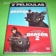 COMO ENTRENAR A TU DRAGON 1 Y 2 DREAMWORKS DVD NUEVO Y PRECINTADO