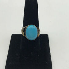 "Silver ""925"" And Turquoise Ring Size 10"