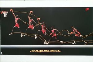 Michael Jordan- Art Of The Dunk Poster- reprint