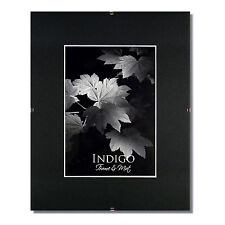 Set of 15 - 11x14 Glass & Clip Frames, Single Black Mats for 8.5x11