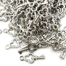 99Pcs Alloy Metal Key Shape Beads Finding