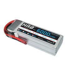 HRB 14.8V 6000mAh 4S 50C 100C Lipo Battery Deans Plug For RC Helicopter Airplane