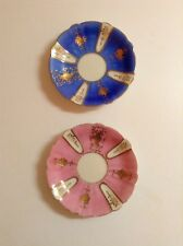 Two ARDALT PLATES LENWILE CHINA Occupied JAPAN HAND PAINTED Gold Gilt + 1 Cup