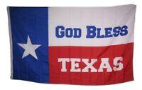 3x5 God Bless Texas Houston Flag Banner Grommets Silk Nylon Polyester Premium