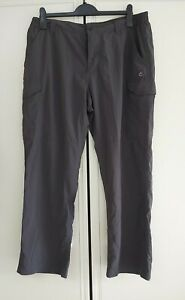 Craghoppers Outdoor Trousers Size 38, Dark Grey Elasticated Waist, Insect...