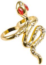 Golden Snake Ring NEU - Zubehör Accessoire Karneval Fasching