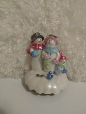 Yankee Candle Toppers 2001 Snowman Family by Nancye Williams Christmas Holidays