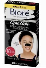Biore CHARCOAL Deep Cleansing Pore Strips ~18 Count~ Free Shipping