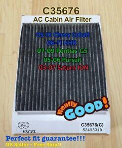 CARBONIZED CABIN AIR FILTER for CHEVY COBALT HHR PONTIAC G5 PURSUIT SATURN ION