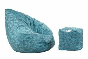 Bedding Combo Italian Velvet Bean Bag and Footstool Without Beans- XXL