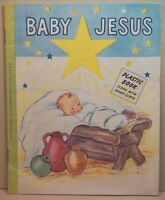 Baby Jesus Little Book for Little People vtg 1953 CR Gibson & Co Christmas