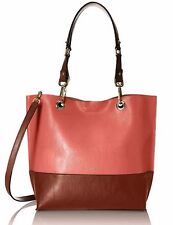 Calvin Klein Novelty PVC Reversible Tote Salmon/Luggage $198.00
