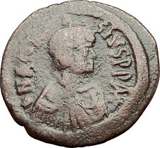 ANASTASIUS 491AD Constantinople Follis Authentic Medieval Byzantine Coin i59265