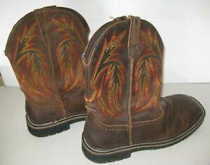 Herman Survivors Men's Ranger Steel Toe Boots Western Work Cowboy Size 10