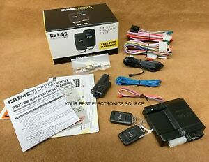 NEW Crimestopper RS1-G6 1-Way Remote Start System with Keyless Entry  RS1G6
