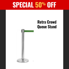 Stanchion Retractable Belt Queue Barrier Stand Post Control Social Distance NEW