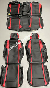 2015 -> 2021 Dodge Challenger Custom Leather Seat Replacement Covers Black & Red