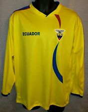 a46b2bf6429 Ecuador National Team Long Sleeved Yellow Polyester Shirt EUC - Mens M or L