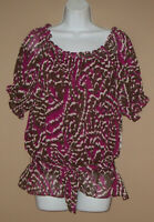 Womens Petite Size PXL Short Sleeve Patterned Casual Summer Blouse Top Shirt