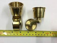 Solid Brass/ Nickel Castors,25,29,32,38 MM,Cup,Peg,Screw Fitting,Victorian sty
