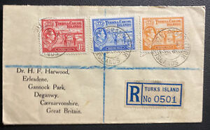 1946 Grand Turk Turks & Caicos Registered cover To Deganwy England