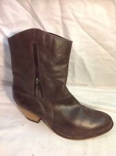 The Shoe Tailor Brown Ankle Leather Boots Size 6