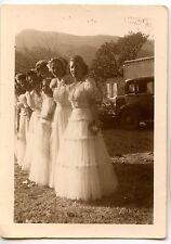 Mariage Marie demoiselles d'honneur femmes voiture - photo ancienne an. 1930