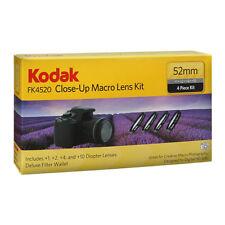 Kodak FK4520 52mm Close Up Macro Lens Kit +1, +2, +4 and +10 Diopter Lenses