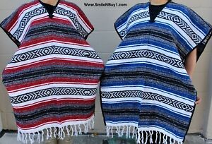 Poncho falsa Handmade Mexican Blanket. Sarape Poncho Serape. Mexican Poncho