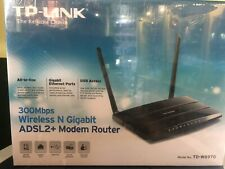 Tp-link Td-w8970 300mbps Gigabit WLAN N Adsl2 Router moderno con 2 Antenne