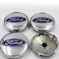 4x 60mm Ford Silber Blau Nabendeckel Felgendeckel Nabenkappe Nabenabdeckung Rad