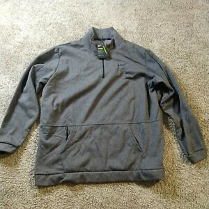Men's Nike Grey Long-Sleeve 1/4-Zip Training Top Therma CU6217 071 Size 4XL