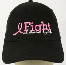 Black Breast cancer awareness baseball hat cap embroidered  adjustable strap