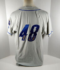 2019 Omaha Storm Chasers Ben Lively #48 Game Used Grey Jersey