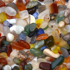 50g Mixed Colors Natural Tumbled Agate Stone Gemstone Rock About 10mm IrregulaHI