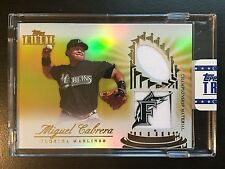 2012 Topps Tribute Gold #MC Miguel Cabrera Uncirculated Dual Jersey Card #01/15