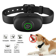 Electric Dog Training Collar Waterproof Rechargeable Humane No Shock Anti Bark